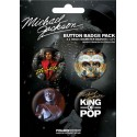 MJ KING OF POP BADGES PACK