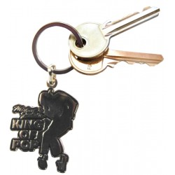 MJ KING OF POP ENAMEL KEYRING
