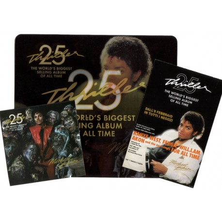 MJ OFFICIAL THRILLER 25 PROMO SET