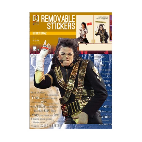 MJ REMOVABLE WALL STICKERS