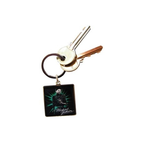 MJ OFF THE WALL KEYRING