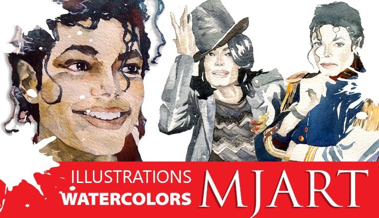 Michael Jackson ART illustrations and watercolors.